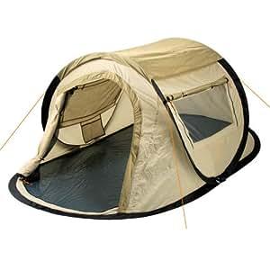 campfeuer sekundenzelt wurfzelt 2 personen quicktent creme beige sport. Black Bedroom Furniture Sets. Home Design Ideas