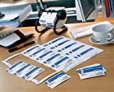 Avery C 32028-25 200 Visitenkarten für Tintenstrahldrucker, glänzend, 250 g, 85 x 54 mm weiß