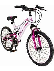 "20"" Radar Girls KIDS BIKE - Childrens MFX Bicycle in PINK & WHITE Ages: 8 - 11"