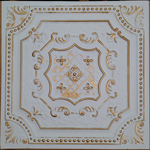 pl04-en-etain-plafond-3d-dalles-cameo-en-or-blanc-cafe-pub-shop-art-decoration-murale-panneaux-10pie