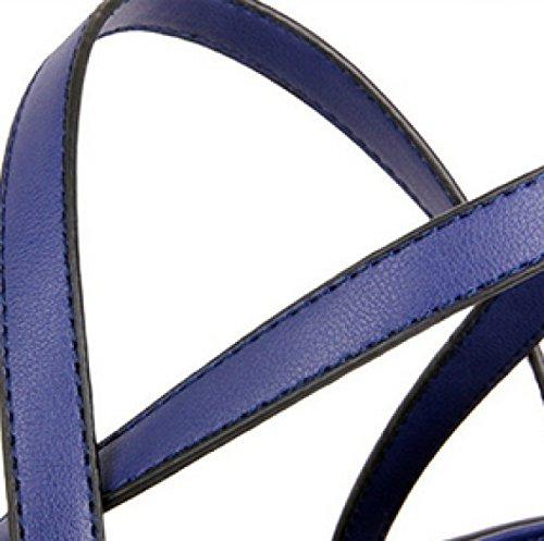 Borsa Di Grande Capacità Diagonale Della Borsa Delle Borse Di Modo Di Cuoio SapphireBlue