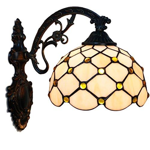 Fabakira Wandleuchte Luxus Wand Tiffany Stil Innenausstattung Schlafzimmer Licht Lampenschirm Glas Dekorative -