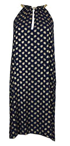Michael Kors Damen Kleid - Ärmelloses Kleid (Navy, S)