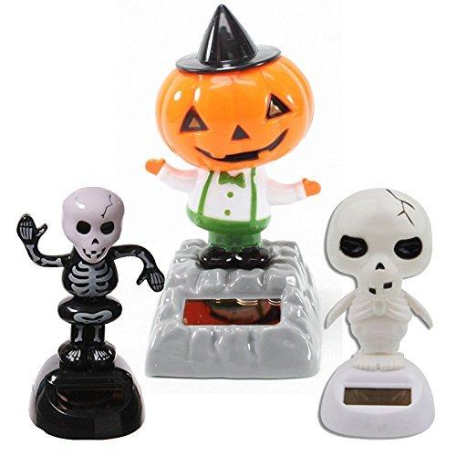 Set von 3Jackpot, Solar Spielzeug Dancing Skelett Kürbis für Halloween Party Spiele Nightmare Bobble Head Ghost Home Decor Geschenk–USA Verkäufer. von Jackpot kabellos