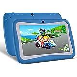 7 pouces Enfant Tablette Android (OS 5.1, Quad Core, HD Display, 1 Go de RAM, 8 Go de stockage, WIFI, Bluetooth, USB, double caméra) (rose) (Bleu)