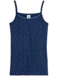 Sanetta muchachas camisa de la tapa allover mangas undershirt 140-176 - Azul