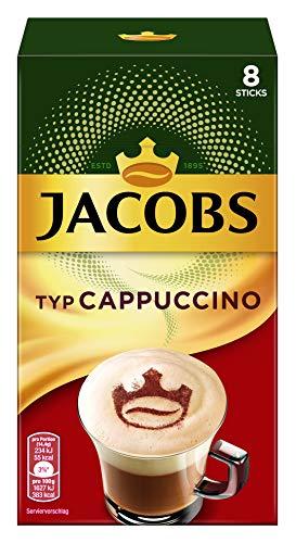 Jacobs Cappuccino, 80 Kaffeesticks, 10er Pack, 10 x 8 Getränke