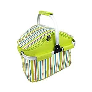 Webat Insulated Folding Cooler Picnic Basket Bag Thermal Tote Lunch Bag -- Color Randomization