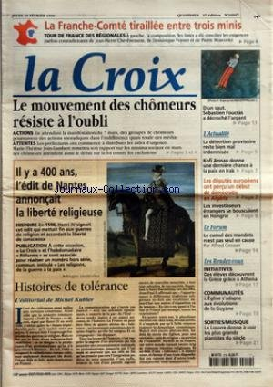 CROIX (LA) [No 34947] du 19/02/1998 - LA...
