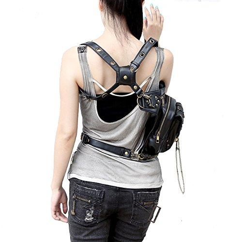 51eNQQqRAuL. SS500  - FiveloveTwo® Men Women Multi-purpose Tactical Drop Leg Arm Bag Pack Hip Belt Waist Messenger Shoulder Fanny Packs Steampunk Bag Wallet Purse Pouch Bag