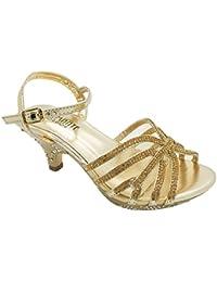Londres calzado Kirstin, las niñas 'bajo tacón sandalias zapatos