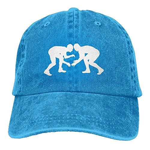 Unisex Baseball Cap Denim Hut Wrestling Silhouette verstellbar Snapback Cricket Cap Hip Hop 4761