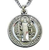 Westin San Benito Medalla Colgante 7/8Pulgadas Diámetro en una Cadena de Metal con Bolsa de Regalo