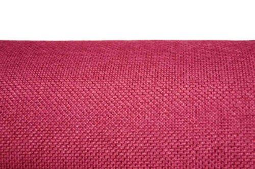 Arketicom Pacco da 4 Cuscini Artigianali Per Sedie Rotondi Misto Cotone Poliestere Colore Rosa Fucsia diam. 35X3 (cuscino quadrato sedia casa cucina giardino)