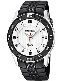 Calypso Armbanduhr Herrenuhr Analoguhr schwarz 10 ATM mit Leuchtzeigern K6062/3