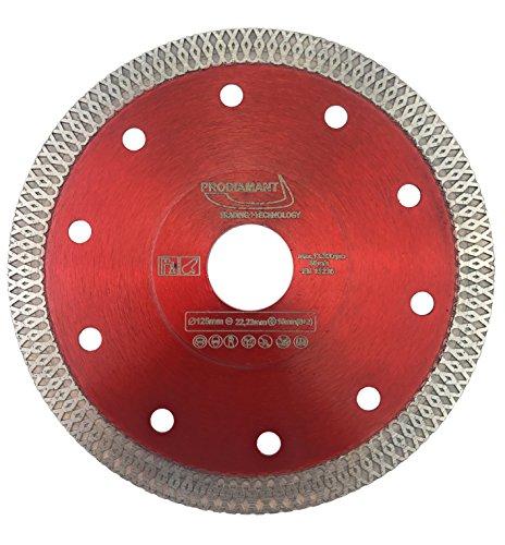 PRODIAMANT Premium Diamant-Trennscheibe Fliese/Feinsteinzeug 125 mm x 22,23 mm Diamanttrennscheibe PDX93.936 125mm Fliesenscheibe