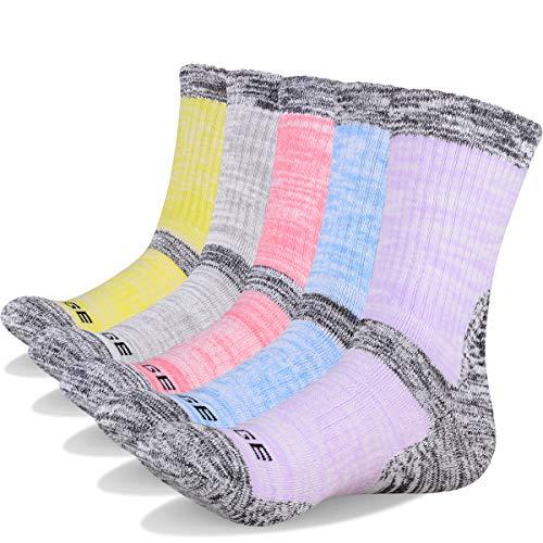 Baumwolle Socken Wandern (YUEDGE 5 paar Wandersocken Trekkingsocken Atmungsaktiv Sportsocken für Damen Hochleistung (XL))