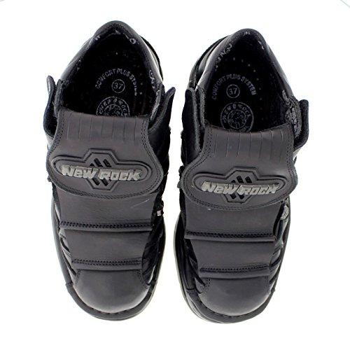 New Rock Womens M1075 C22 Turbo Leather Shoes Schwarz WVXNv3zkcF