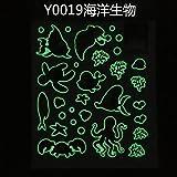 LangToo Zyklus Licht emittierende glow-in-the-night light Sterne Wall Mount fluoreszierende Aufkleber Schlafsäle sind dauerhaft leuchtet grün, marine Organismen, Groß