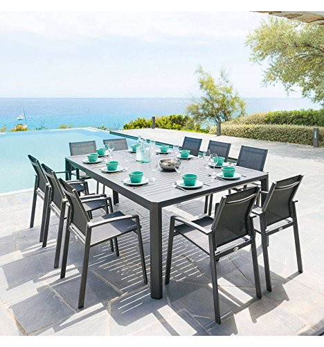 Table extensible Séville 6 10 places Graphite fa5b4cd103da