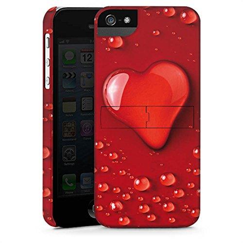 Apple iPhone X Silikon Hülle Case Schutzhülle Liebe Wasser Tropfen Herz Muster Premium Case StandUp