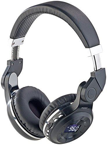 auvisio Headset: MP3-Kopfhörer mit Bluetooth, Freisprech-Funktion, FM-Radio & Aux-in (Kabellos Kopfhörer)