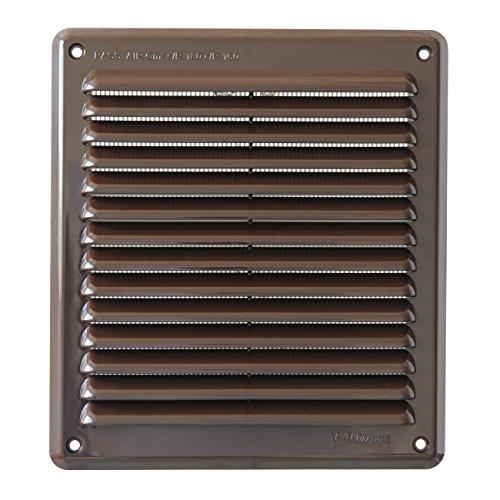 La Ventilazione AR2023M Griglia di Ventilazione in Plastica Rettangolare da Sovrapporre, Marrone, 204x230 mm