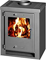 Wood Burning Stove Fireplace Log Burner Multi Fuel CUBE 5kw
