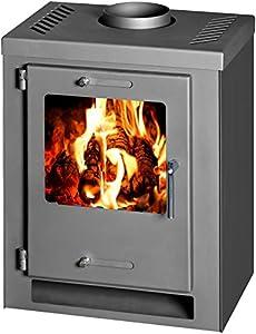 Wood Burning Stove Fireplace Log Burner Multi Fuel CUBE 5kw