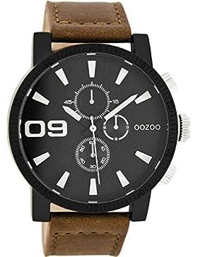 Oozoo Damenuhr mit Lederband 46 MM Schwarz/Braun C7873