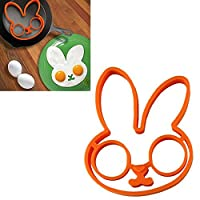 Rabbit Silicone Egg Mold Ring Cooking Tools Fried Egg Kitchen Gadgets Cheapest Price (Orange rabbit)