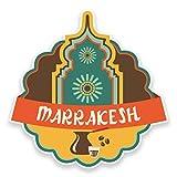 2 x 10cm/100 mm Maroc Marrakech Auto-adhésif Autocollant Vinyle Autocollant pour portable Assurance voiture signer Fun #9225