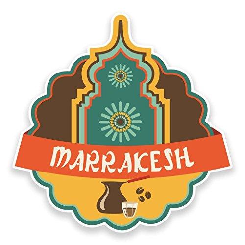 Preisvergleich Produktbild 2 x Marrakesch Marokko Vinyl Aufkleber Aufkleber Laptop Reise Gepäck Auto Ipad Schild Fun 9225 - 10cm / 100mm Wide