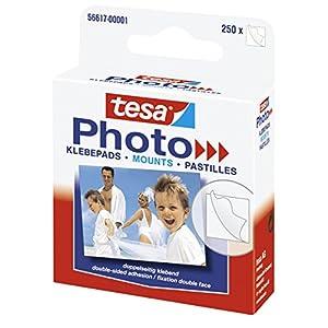 tesa Photo Klebepads – Beidseitig klebend zur Erstellung eines Fotobuches – 250 Stück