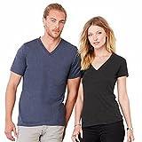Jersey Deep V-Neck T-Shirt Gr. S, Weiß - Weiß