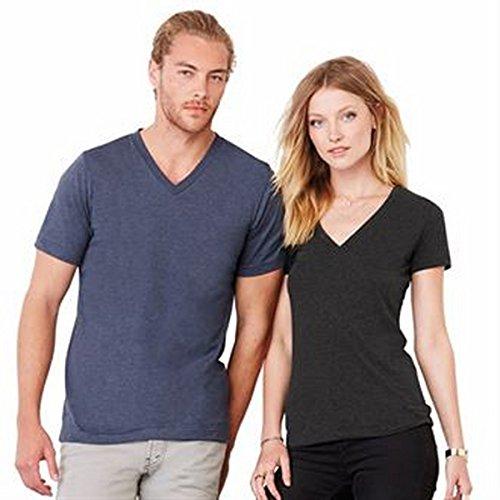 Jersey Deep V-Neck T-Shirt Gr. Medium, weiß