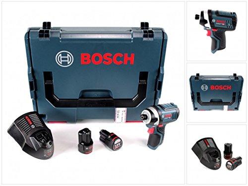 Bosch GDR 12V-105 Professional Akku Drehschlagschrauber in L-Boxx + 2 x GBA 12 V 3,0 Ah Akku + 1 x GAL 1230 Ladegerät (Akku-stab-12v)
