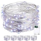 Warmoon LED Draht Lichterkette Batteriebetrieben Wasserdicht lichterkette für Party Fest Beleuchtungdeko Weihnachtendek