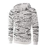 UJUNAOR Männer Casual Sweatshirt Langarm Pullover Top Herbst Outwear M bis 3XL(Weiß,EU L/CN XL)
