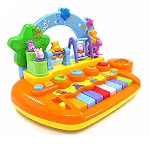 Goappugo Amazing Baby Piano Musical Toys Baby Birthday For Kids Multicolor