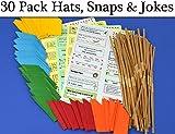 30 Tissue Paper Hat, Snap & Joke Pack for Standard Crackers