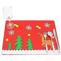 Oyedens Natale tovagliette cervo panno di tabella mat Dinner Party Decor