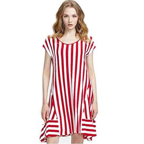 DMMSS Frauen-Pyjama Sommer Kurzarm-Kleid Rock kann loses Home-Service Kleid tragen , 3 , 170 (Erwachsenen Kostüme Sonic)