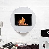 Bio-Blaze BB-QWA-W Wall-Mounted Bioethanol Fireplace Qwara White
