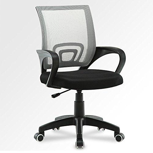 ehstuhl höhenverstellbar Computer-Schreibtisch Bürostuhl, ergonomisch Home Office Stühle Executive Stuhl mit Netzstoff für Arbeiten, Grau/Schwarz, Common (Home-office Schreibtisch Executive)