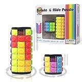 R.Y.TOYS Zylinder Puzzle Zauberwürfel Puzzle für Erwachsene Geschwindigkeitswürfel Puzzles für Kinder Puzzles für 3-jährige Spielpuzzles 9-jährige 3D-Stichsägen für Kinder 3100B (2-Pack)