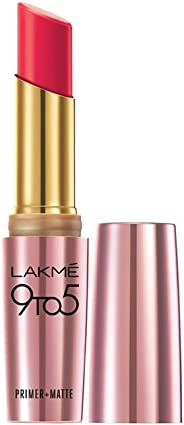Lakme 9 to 5 Primer + Matte Lip Color, Ruby Rush, 3.6 g