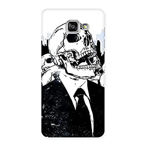 Enticing Skull Laugh Back Case Cover for Galaxy A7 2016