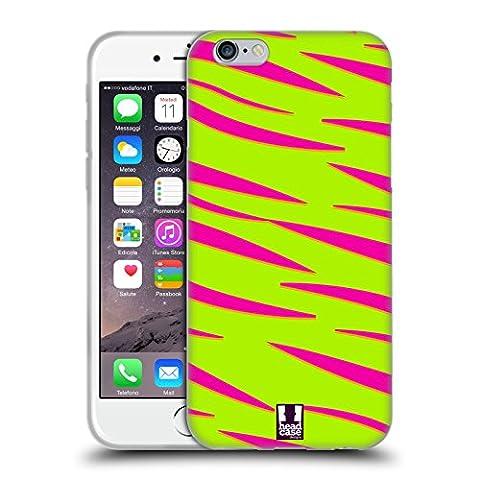 Head Case Designs Tiger Neon Drucke Soft Gel Hülle für Apple iPhone 6 / 6s