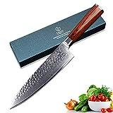 YARENH Damastmesser Küchenmesser 20cm